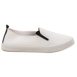 Kylie Hvide Sneakers Slip On