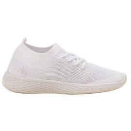 SHELOVET hvid Slip-on Sport Sko