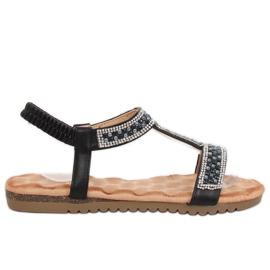 Sorte kvinders sandaler HT-67 Black