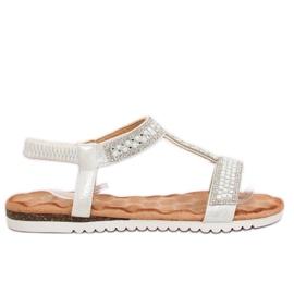Sandaler kvinder sølv HT-67 Sølv grå