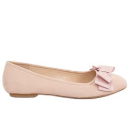 Brun Kvinders lårfarvede ballerina sko 3173 Beige
