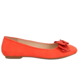 Orange kvinders ballerina 3173 Orange appelsin
