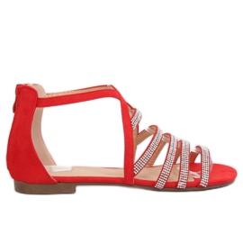 Kvinders sandaler rød LL6339 Rød