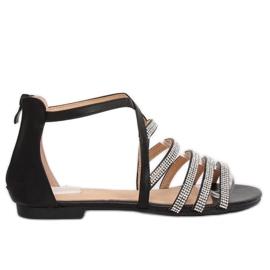 Sorte kvinders sandaler LL6339 Sort