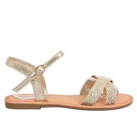 Kvinders sandaler og guld WL282 Gold