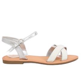 Grå Kvinders sølv sandaler WL282 Sølv