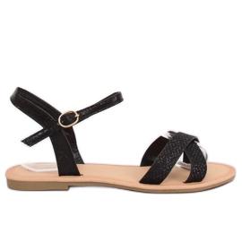 Sort og sort dames sandaler WL282 Sort
