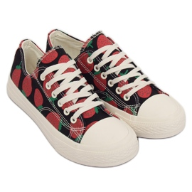 Sneakers jordbær sort XL-21 Black