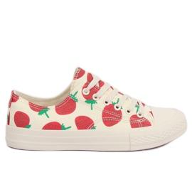 Brun Jordbær beige sneakers XL-21 Beige