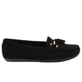 Loafers sort L7183 Sort