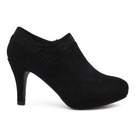 Sort ankel støvler Marie