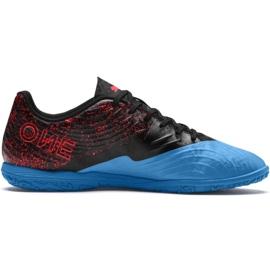 Fodboldstøvler Puma One 19.4 It M 105496 01 sort og blå