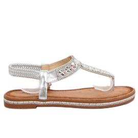 Sandaler sølv ZY163 Sølv grå