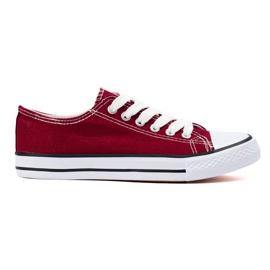 SHELOVET Bourgogne sneakers rød