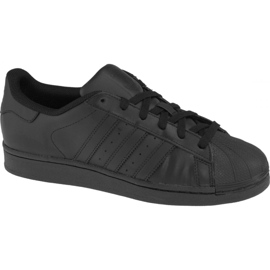Sort Adidas Superstar J Foundation Jr B25724 sko