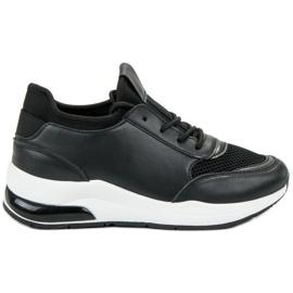 Ideal Shoes sort Kvinder Sportsko