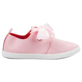 SHELOVET Støvler bundet med et bånd pink