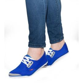Laced Lycra sneakers CC8518 Blue blå
