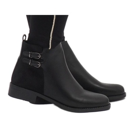Ideal Shoes Sorte elegante C-7200 støvler