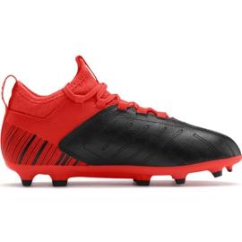 Fodboldstøvler Puma One 5.3 Fg Ag JR105657 01 rød sort