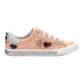 Kylie appelsin Sneakers med Brocade