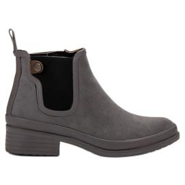 Kylie grå Booties Jodhpur støvler