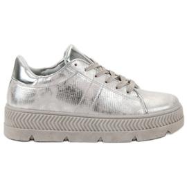 Bestelle grå Sølv Sportsko