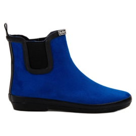 Kylie Suede Leather Wellies blå