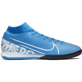 Fodboldsko Nike Mercurial Superfly 7 Academy Ic M AT7975 414 blå