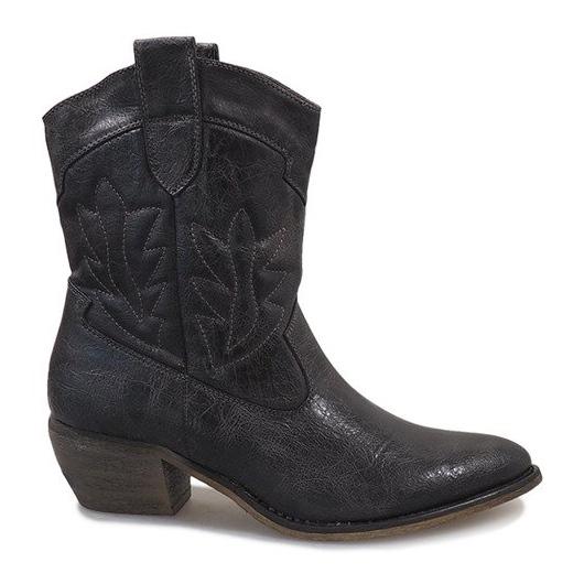 Grå cowgirl støvler 10601-1