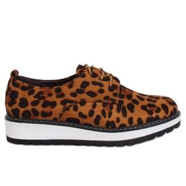 Moccasins til leopard til kvinder C-7225 Leopard Print brun