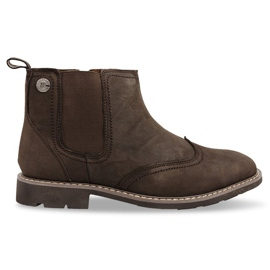 Højisolerede sko Knyttet 4682 Brun
