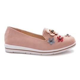Pink Lyserøde hæl med multi-blomst