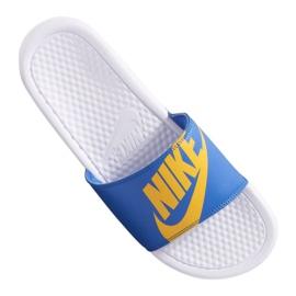 Blå Nike Benassi Jdi Print 631261-104 hjemmesko