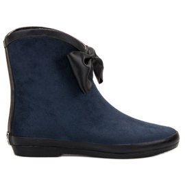 Kylie navy Ruskind Wellingtons With Bow