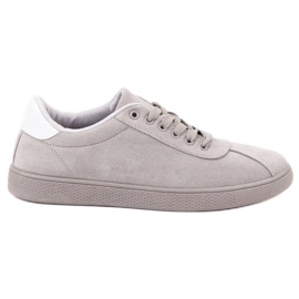 Ideal Shoes Grå Lace Fodtøj