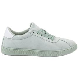 Ideal Shoes grøn Mint snøresko