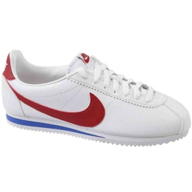 Nike Classic Cortez Læder W 807471-103 sko hvid