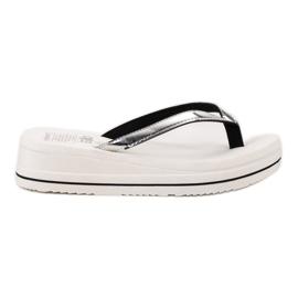SHELOVET På flip-flops Wedge Heels hvid