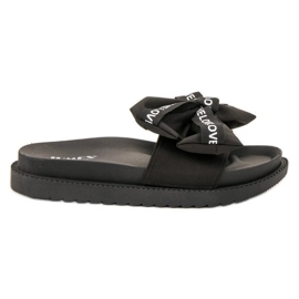 Jumex sort Flip Flops Med Love Bow