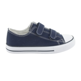 Atletico Navy velcro sneakers