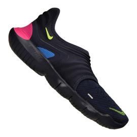 Navy Nike Free Rn Flyknit 3.0 M AQ5707-400 sko