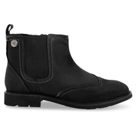 Højisolerede lavbundne sko 4682 Sort