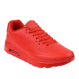 Rødt mænds sportssko
