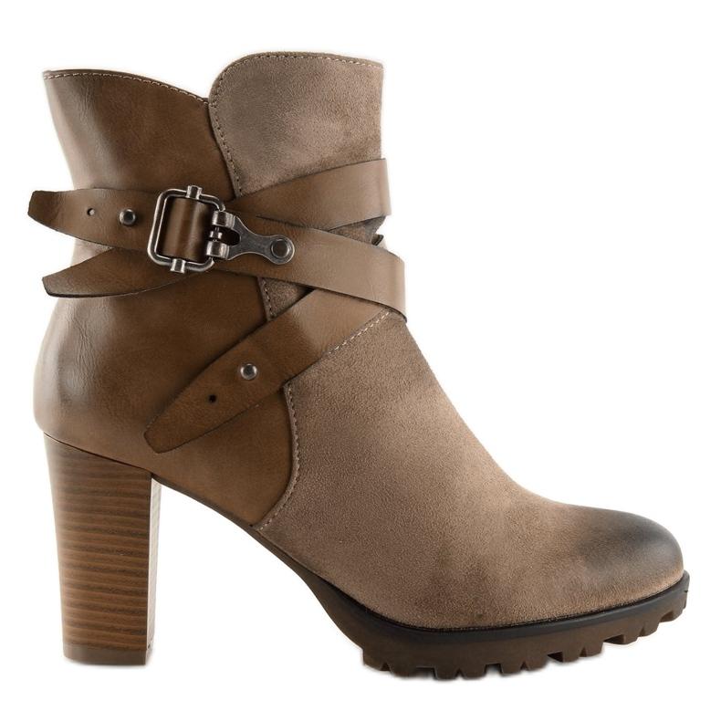 Ankelstøvler brun 8287 Khaki