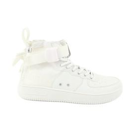 Big Star Store stjerne sneakers snøring 274648 hvid