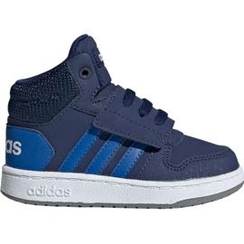 Navy Adidas Hoops Mid 2.0 EE6714 børnesko