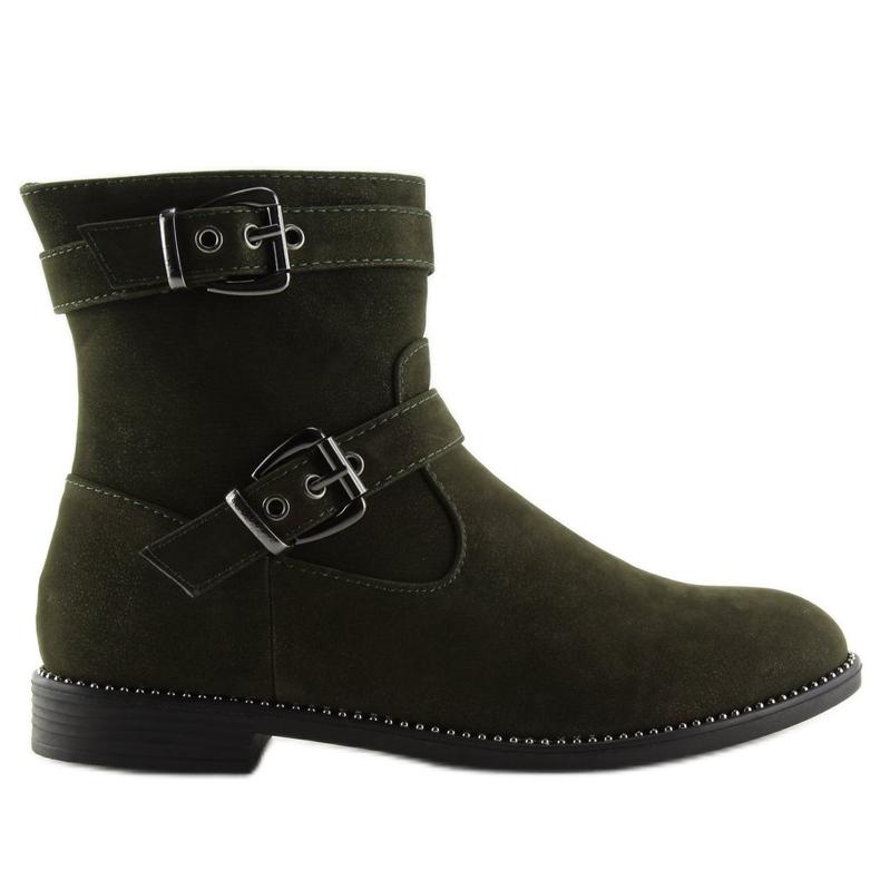 Platte grønne sko MB188-266 Grøn