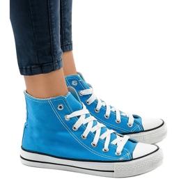 Blå klassiske høje sneakers DTS8224-16