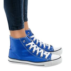 Blå klassiske høje sneakers DTS8222-14